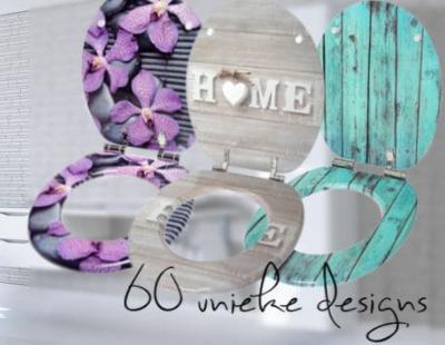 WC Bril met unieke print kopen? | 60 mooie toiletbril modellen